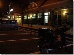 駐車場に寂しく1台